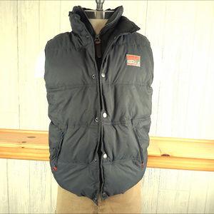 Superdry Gray & Orange Puffer Vest